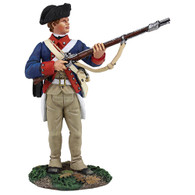 WBritain 16023 Clash of Empires Continental Line/1st American Regiment Standing At Ready, 1777-1787