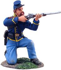 William Britain 31063 American Civil War Union Cavalry Trooper Dismounted Kneeling Firing No.1