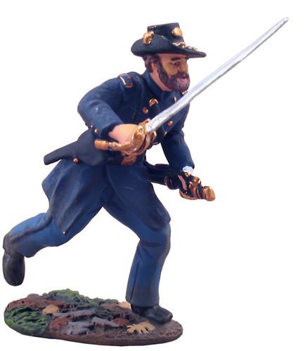 W Britain 31096 American Civil War Union Infantry Iron Brigade Officer Charging No.1