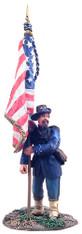W Britain 31099 American Civil War Union Iron Brigade Flagbearer at Rest No.1