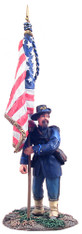 W Britain 31099 American Civil War Union Iron Brigade Flagbearer at Rest No.1
