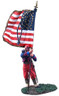 W Britain 31106 American Civil War Union Infantry 114th Pennsylvania Zouaves Color Sergeant with National Colors No.1