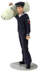 W Britain Toy Soldier Jack Tars & Leathernecks 13006 U.S. Navy Sailor in Blue Winter Service Dress No.1