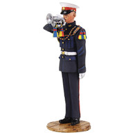 W Britain Toy Soldier Jack Tars & Leathernecks 13013 British Royal Marine Bugler, 1959