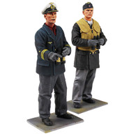 "W Britain Toy Soldier Jack Tars & Leathernecks 13017 ""On Watch"" - German U-Boat Crewman and Captain, WWII"