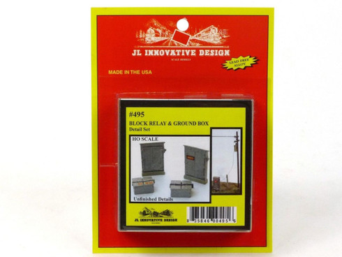 JL Innovative Design 495 Block Relay And Ground Box Detail Set HO Scale Trains