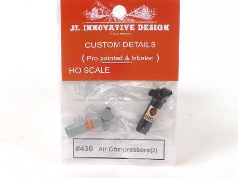 JL Innovative Design 436 Air Compressors HO Scale Model Trains Scenery Accessory
