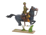 Quartermaster Corps Mounted Trooper with Carbine Charging US Cavalry World War I
