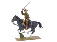 Quartermaster Corps Mounted Officer with Sword Charging US Cavalry World War I