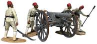 W Britain 27078 War Along the Nile Krupp Gun 5 piece set