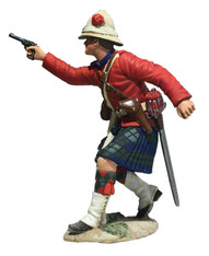 W Britain 27066 War Along the Nile 42nd Highland Company Officer Firing Pistol