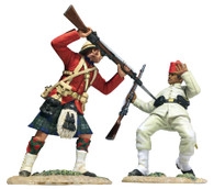 "W Britain 27064 War Along the Nile ""Pressing Home with Steel"" 42nd Highland Bayonetting Egyptian Infantry Casualty Falling"