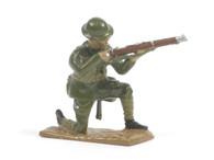 Quartermaster Corps British Infantry Soldier Kneeling Firing World War I
