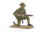 Quartermaster Corps British Infantry Soldier Kneeling Loading Rifle World War I
