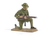 Quartermaster Corps British Infantry Soldier Kneeling Loading Rifle World War I