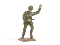 Quartermaster Corps British Officer With Pistol Signaling Charge World War I