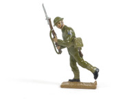Quartermaster Corps British Infantry Soldier Walking with Bayonet World War I