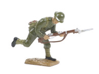 Quartermaster Corps British Infantry Soldier Charging with Bayonet World War I