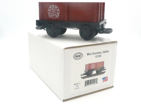 Hartland Locomotive Works 15108 Mini Gondola Denver & Rio Grande, D&RG