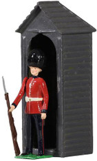 W Britain Archive Collection 49038 British Scots Guardsman with Sentry Box