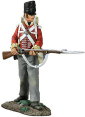 W Britain 36106 Napoleonic British 44th Foot Regiment Battalion Company Standing At Ready No.1