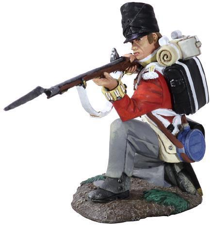 W Britain 36106 Napoleonic British 44th Foot Regiment Battalion Company Kneeling Firing No.1