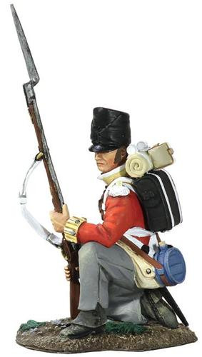 W Britain 36108 Napoleonic British 44th Foot Regiment Battalion Company Kneeling At Ready No.1