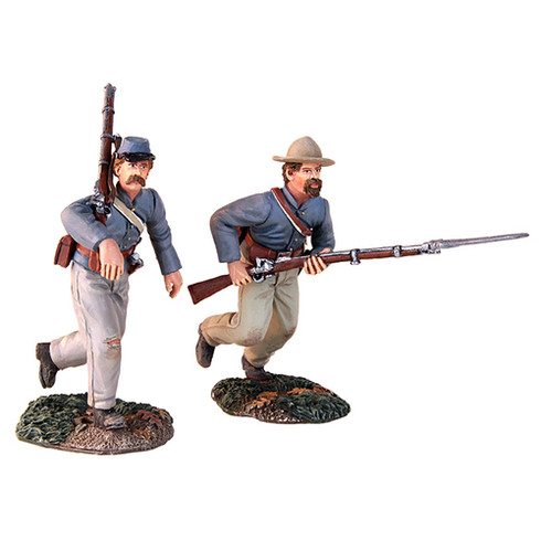 "W Britain 311149 American Civil War ""At the Double Quick"" - Confederate Charging Set"