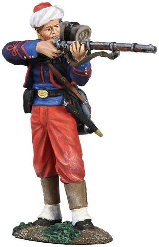 W Britain 31186 Union Infantry 114th Pennsylvania Zouaves in Turban Standing Firing No.1