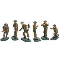 W Britain Toy Soldiers Super Deetail Plastic 52008 WWII British Infantry Set No.1