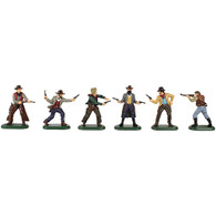 W Britain Toy Soldiers Super Deetail Plastic 52013 Wild West Cowboys Set No.1