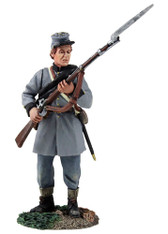 W Britain American Civil War 31258 Confederate Infantry Texas Brigade Standing Defending No.1