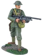 W Britain Soldier 10043  U.S. Marine WWI Chau-Chat Gunner
