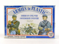 Armies In Plastic American Civil War Confederate Infantry Toy Soldiers 5411B- Front