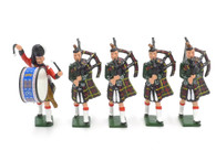 WBritain Hollow Cast Collection 41002 Cameron Highlanders Band Set 2