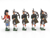 WBritain Hollow Cast Collection #41004 Cameron Highlanders Band Set 4