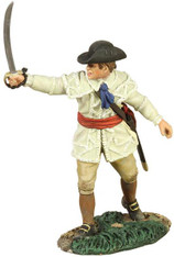 WBritain Soldier 16004 Clash Of Empires Colonial Militia Officer Pointing