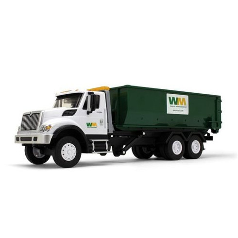 First Gear Plastic International WorkStar Truck With Roll Off Container 70-0580
