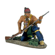 WBritain Soldier Toy  16005 Clash Of Empires Eastern Woodland Indian Kneeling Loading