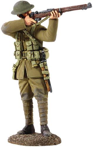 W Britain 23065 World War I 1916-17 British Infantry Standing Firing Over Parapit