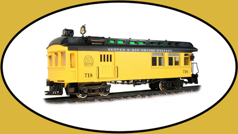 Hartland Locomotive Works 09222 Rail Motor Car Denver & Rio Grande Western Yellow/ Black