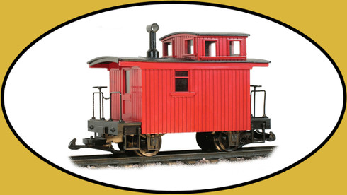 Hartland Locomotive Works Mini Bobber Caboose 15601 G Scale Model Trains Freight Cars