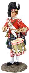 W Britain Toy Soldier Museum Collection 10046 78th Highland Regiment Drummer, 1870