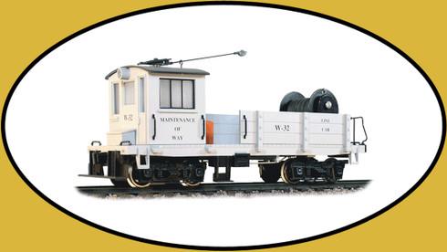 Hartland Locomotive Works 09803 Line Car, Maintenance of Way, Gray