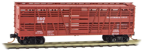 Baltimore And Ohio Stock Car Micro-Trains Line N Scale Freight Cars 03500242