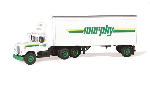 First Gear Murphy Motor Freight Mack R With 28 Foot Pup Trailer 60-0242 1:64