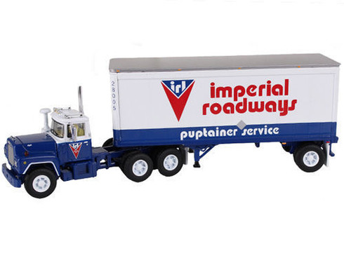 First Gear Imperial Roadways Mack R With 28 Foot Pup Trailer 60-0265 1:64 Scale