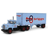 First Gear Diecast Truck 1/64 Scale Briggs Transportation Mack R Model 60-0284