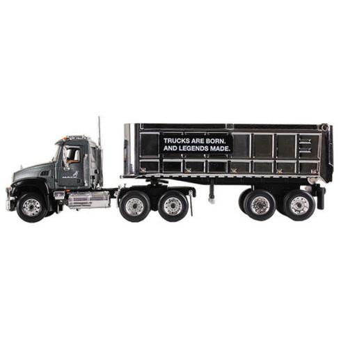 First Gear Mack Granite With Chrome Dump Trailer 60-0296 1:64 Scale Mack Trucks