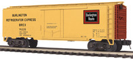 MTH Electric Trains O Scale Premier Reefer Car Set Burlington 20-94261